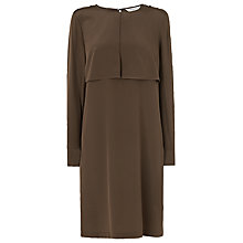Buy L.K. Bennett Mariele Utility Silk Dress, Olive Online at johnlewis.com