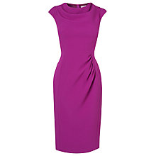 Buy L.K. Bennett Lila Foldback Neckline Dress, Orchid Online at johnlewis.com