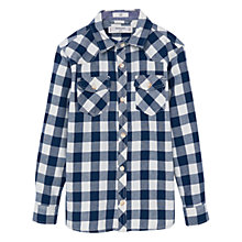 Buy Mango Kids Boys' Check Shirt, Medium Blue Online at johnlewis.com