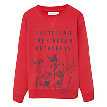 Buy Mango Kids Boys' Skate Land Sweatshirt, Red Online at johnlewis.com