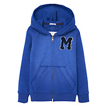 Buy Mango Kids Boys' Zip Through Hoodie, Medium Blue Online at johnlewis.com