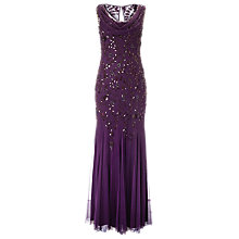 Buy Phase Eight Collection 8 Damson Quartet Embellished Dress, Damson Online at johnlewis.com