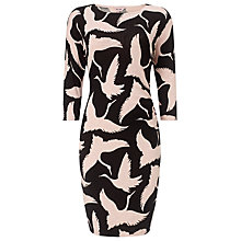 Buy Phase Eight Brona Print Dress, Black/Pink Online at johnlewis.com