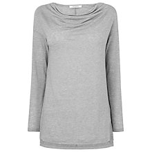 Buy L.K. Bennett Roslyn Jersey Top, Grey Marl Online at johnlewis.com