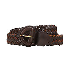 Buy John Lewis Leather Jeans Belt Online at johnlewis.com
