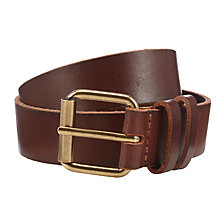 Buy John Lewis Leather Jeans Belt, Tan Online at johnlewis.com