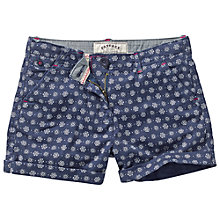 Buy Fat Face Girls' Geo Print Shorts, Navy Online at johnlewis.com