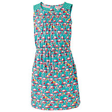 Buy Fat Face Girls' Maisy Flamingo Jersey Dress, Green Online at johnlewis.com