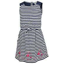 Buy Fat Face Girls' Maisy Stripe Jersey Dress, Navy Online at johnlewis.com