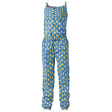 Buy Fat Face Girl's Pineapple Jumpsuit, Blue Online at johnlewis.com
