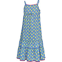 Buy Fat Face Girls' Fairlight Pineapple Maxi Dress, Blue Online at johnlewis.com