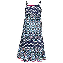 Buy Fat Face Girls' Fairlight Tile Print Dress, Blue Online at johnlewis.com