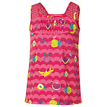 Buy Fat Face Wren Fruit Print Vest Top, Pink Online at johnlewis.com