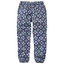 Buy Fat Face Girls' Betty Tile Print Beach Trousers, Blue Online at johnlewis.com