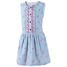 Buy Fat Face Girls' Matilda Flamingo Dress, Blue Online at johnlewis.com