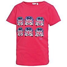 Buy Fat Face Girls' Union Jack Van Short Sleeve T-Shirt, Pink Online at johnlewis.com