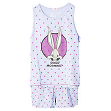 Buy Mango Kids Girls' Looney Tunes Pyjama Set, Pastel Purple Online at johnlewis.com