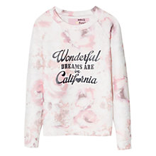 Buy Mango Kids Girls' Floral Print Sweatshirt, White/Pink Online at johnlewis.com