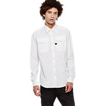 Buy G-Star Raw Correct Landoh Shirt, White Online at johnlewis.com