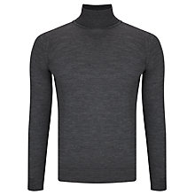 Buy John Smedley Belvoir Roll Jumper, Charcoal Online at johnlewis.com