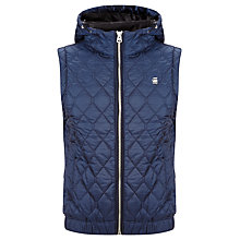Buy G-Star Raw Meefic Quilted Hooded Gilet, Saru Blue Online at johnlewis.com