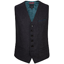 Buy Ted Baker Edewai Wool Rich Waistcoat, Grey Online at johnlewis.com