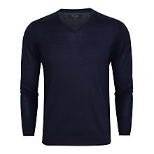 Buy Ted Baker Batatak Merino Wool V-Neck Jumper Online at johnlewis.com
