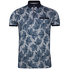 Buy Ted Baker Fastfil Leaf Print Polo Shirt Online at johnlewis.com