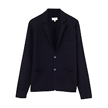Buy Jigsaw Milano Merino Wool Blazer, Navy Online at johnlewis.com