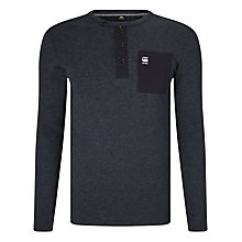 Buy G-Star Raw Mazuren Slim Grandad Long Sleeve T-Shirt, Saru Blue Online at johnlewis.com