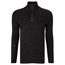 Buy G-Star Raw Effo Turtle Half-Zip Knit, Black/Rover Online at johnlewis.com