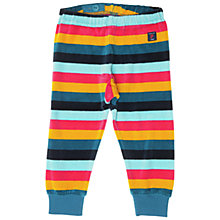Buy Polarn O. Pyret Velour Stripe Baby Trousers, Blue Multi Online at johnlewis.com