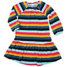 Buy Polarn O. Pyret Girl's Velour Striped Dress, Blue/Multi Online at johnlewis.com
