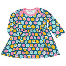 Buy Polarn O. Pyret Monkey Print Baby Dress, Blue Online at johnlewis.com