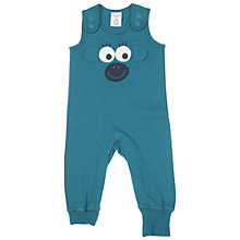 Buy Polarn O. Pyret Baby's Monkey Romper, Blue Online at johnlewis.com