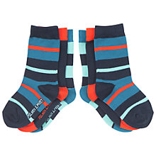 Buy Polarn O. Pyret Baby's Striped Socks, Pack of 3, Blue Online at johnlewis.com