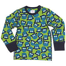 Buy Polarn O. Pyret Baby's Monkey Print Top, Green Online at johnlewis.com