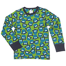 Buy Polarn O. Pyret Children's Monkey Print Top, Green Online at johnlewis.com