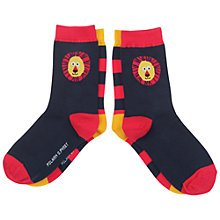Buy Polarn O. Pyret Children's Lion Socks, Blue Online at johnlewis.com