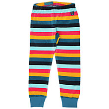Buy Polarn O. Pyret Children's Velour Striped Trousers, Blue Multi Online at johnlewis.com