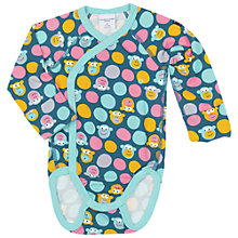 Buy Polarn O. Pyret Baby's Monkey Bodysuit, Blue Online at johnlewis.com