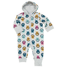 Buy Polarn O. Pyret Lion Print Baby Overall Bodysuit, Grey Online at johnlewis.com