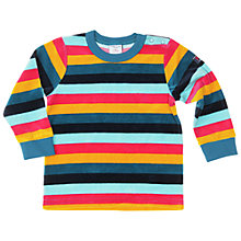 Buy Polarn O. Pyret Velour Stripe Baby Top, Blue Multi Online at johnlewis.com