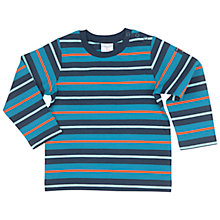 Buy Polarn O. Pyret Baby's Colourful Striped Top, Blue/Multi Online at johnlewis.com
