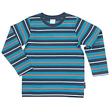 Buy Polarn O. Pyret Children's Colourful Striped Top, Blue/Multi Online at johnlewis.com
