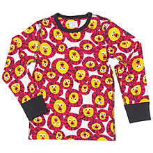 Buy Polarn O. Pyret Children's Lion Print Top, Orange/White Online at johnlewis.com