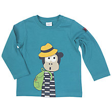 Buy Polarn O. Pyret Baby's Monkey Top, Teal Online at johnlewis.com