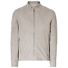 Buy Reiss Salamanda Suede Jacket, Stone Online at johnlewis.com