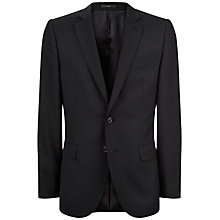 Buy Jaeger Virgin Wool Twill Slim Fit Suit Jacket, Black Online at johnlewis.com
