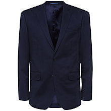 Buy Jaeger Wool Flannel Modern Suit Jacket, Navy Online at johnlewis.com